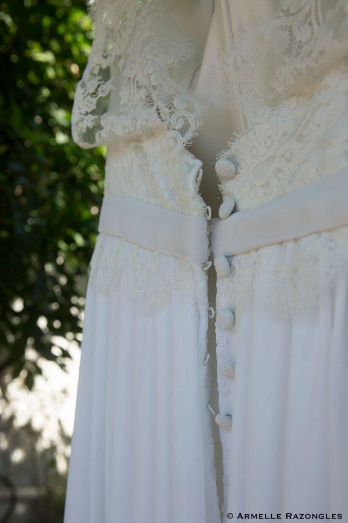 créatrice robe de mariée dos nu auch